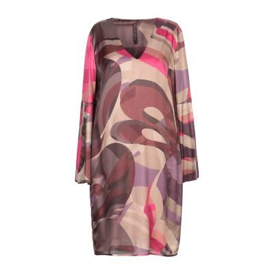 マニラ グレース MANILA GRACE ミニワンピース&ドレス ドーブグレー 44 レーヨン 65% / シルク 35% ミニワンピース&ドレス