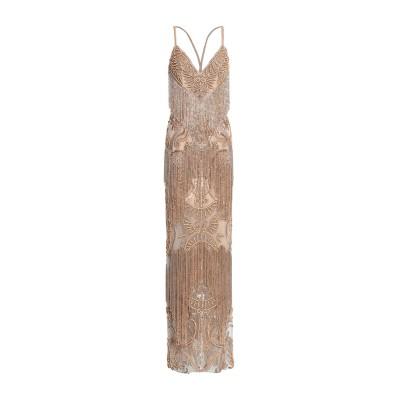 ZUHAIR MURAD ロングワンピース&ドレス サンド 40 シルク 75% / ナイロン 25% ロングワンピース&ドレス