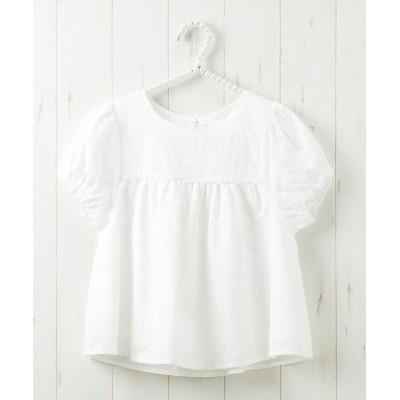 レースボリューム袖ブラウス(女の子 子供服・ジュニア服) (ブラウス)Kids' Blouses, Shirts