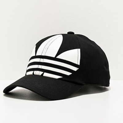 Adidas/アディダス adidas メンズ キャップ ブラック Originals Relaxed Big Trefoil Black & White Strapback Hat