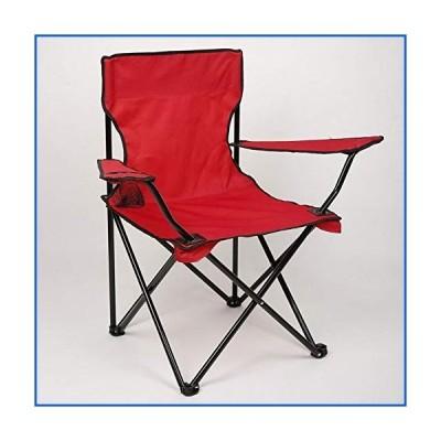 <新品>HELLEN Outdoor Folding Chair, Red,Portable and Comfortable, Suitable for Camping, Beach, Fishing, Barbecue, Travel Z-2020-8-16