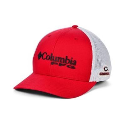 コロンビア メンズ 帽子 アクセサリー Georgia Bulldogs PFG Stretch Cap Red/White