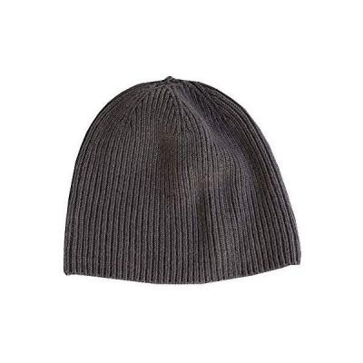 天衣無縫 オーガニックコットンでつくった 縫い目のない ニット帽 チャコールグレー