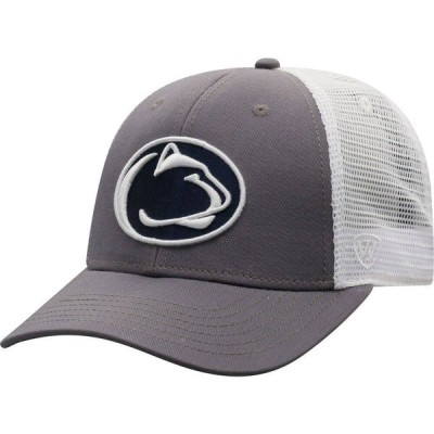 トップオブザワールド Top of the World メンズ キャップ 帽子 Penn State Nittany Lions Grey/White BB Two-Tone Adjustable Hat