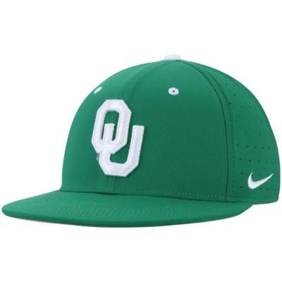 ユニセックス スポーツリーグ アメリカ大学スポーツ Oklahoma Sooners Nike True Performance Fitted Hat - Green 帽子