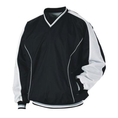 長袖Vネックジャンパー BO550-1911 ブラック×ホワイト 野球 ベースボール ゼット ZETT スポーツウエア