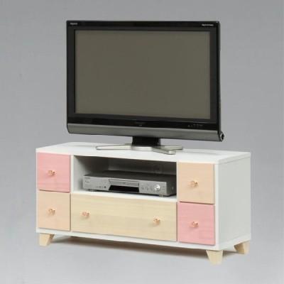 テレビ台 テレビボード ローボード 完成品 幅95cm 木製  ホワイト 白