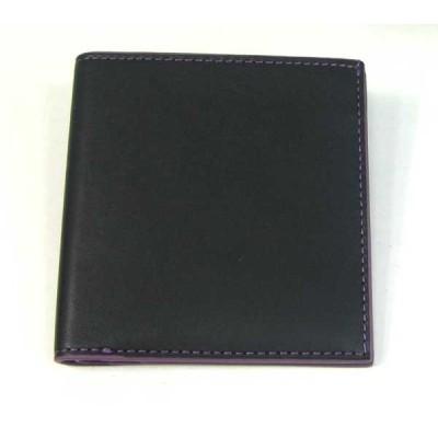 THINLY スィンリー Hシリーズ 薄型2つ折財布 ブラック 札入れ(小)ヌメ革タイプ SL-H-S02BLK