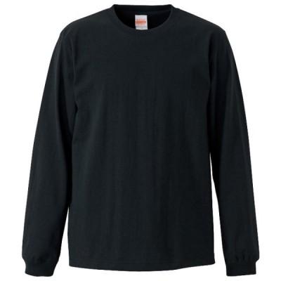 Tシャツ 長袖 メンズ オーセンティック スーパーヘビー 袖リブ 7.1oz M サイズ ブラック 無地 ユナイテッドアスレ CAB