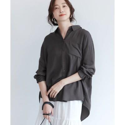 【コカ】テールカットとろみシャツ