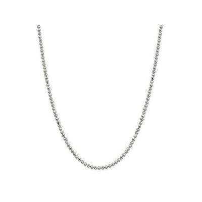 新品  Chain Necklace White Sterling Silver Ball (Beaded) 16 in 3 mm  並行輸入品