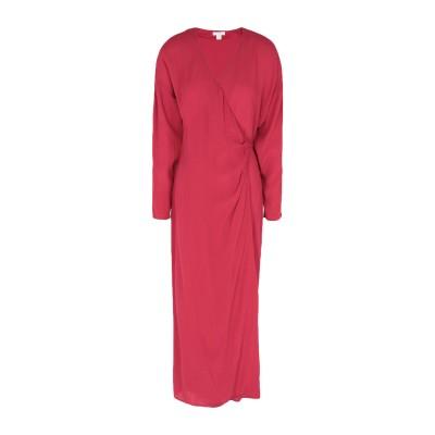 INTROPIA 7分丈ワンピース・ドレス レッド 36 レーヨン 100% 7分丈ワンピース・ドレス