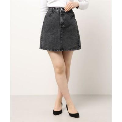 INGNI / SETUP対応ミニ台形スカート WOMEN スカート > デニムスカート