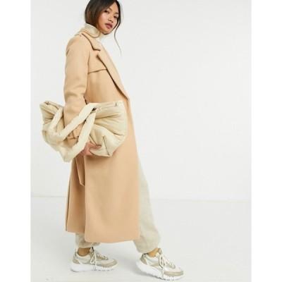 リバーアイランド レディース コート アウター River Island belted utility coat in beige