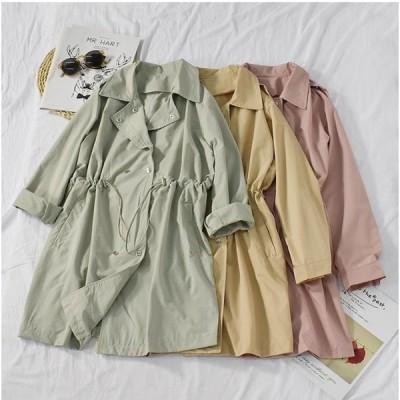 ロングコート トレンチコート レディース ロング丈 長袖 大きいサイズ ゆったり モッズ 軽量 春秋 春物 無地 きれいめ アウター おしゃれ