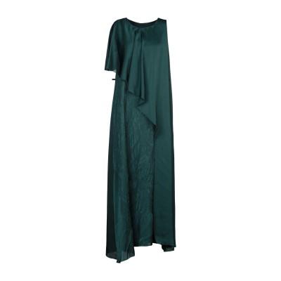マスナダ MASNADA ロングワンピース&ドレス ダークグリーン 40 ポリエステル 100% ロングワンピース&ドレス