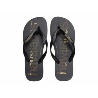 Havaianas ハワイアナス メンズ 男性用 シューズ 靴 サンダル Top Logomania Sandal Black/Black/White【送料無料】