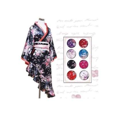 着物ドレス 着物 ドレス 花魁 コスプレ よさこい 衣装 花魁ドレス 浴衣ドレス Jewel ジュエル 花柄 裾アシメ
