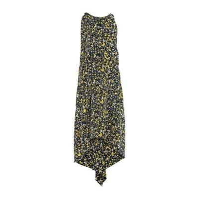 CEDRIC CHARLIER シルクドレス ファッション  レディースファッション  ドレス、ブライダル  パーティドレス ダークブルー