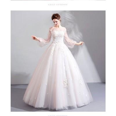 超豪華なロングトレーン♪ロングトレーン♪ウェディングドレス♪高級ウエディングドレス格安.激安お花嫁ドレス結婚式/二次会/パーディ-//花嫁♪