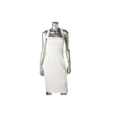 ドレス ワンピース Black Halo ブラック Halo 9432 レディース ホワイト Criss-クロス Back Knee- Party Cocktail ドレス 6 BHFO