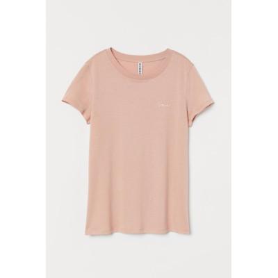 H&M - ジャージーTシャツ - オレンジ