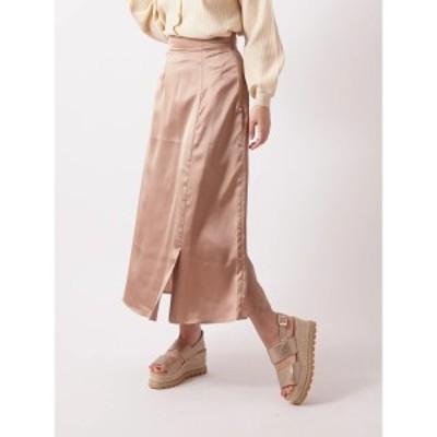 エージープラス(a.g.plus)/サテンマーメイドスカート