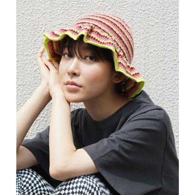 エックスガール X-girl KNIT BUCKET HAT (BURGUNDY)