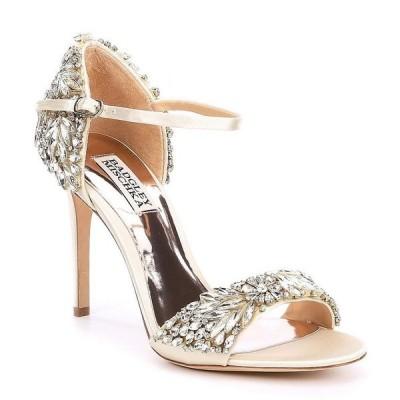バッジェリーミシュカ レディース サンダル シューズ Tampa Jeweled Satin Dress Sandals Ivory