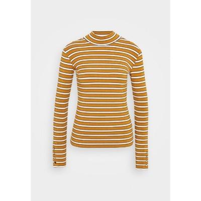 スコッチアンドソーダ カットソー レディース トップス LONG SLEEVE WITH TURTLE NECK  - Long sleeved top - brown/yellow
