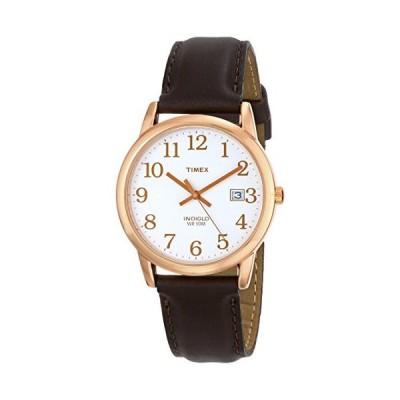 Timex (タイメックス) メンズ イージーリーダー レザーストラップ 38mm 腕時計 ダークブラウン/ローズゴールド調
