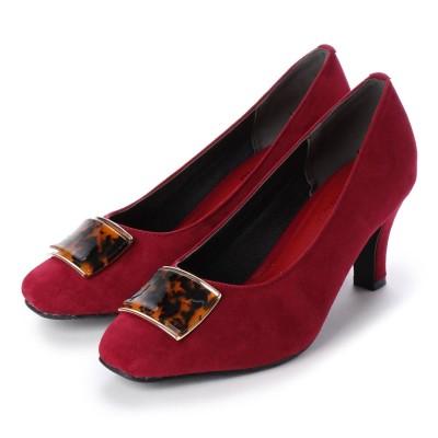 マシュガール masyugirl 【4E/幅広ゆったり・大きいサイズの靴】ベッコウ柄バック(ボルドー) SOROTTO