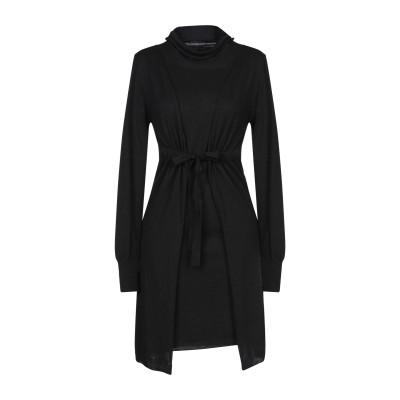 メッサジェリエ MESSAGERIE ミニワンピース&ドレス ブラック 44 レーヨン 50% / ウール 20% / ナイロン 20% / カシミ