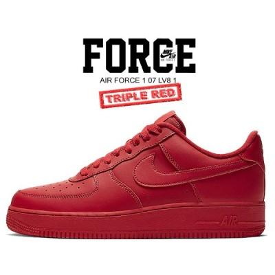 ナイキ エア フォース 1 07 LV8 1 NIKE AIR FORCE 1 07 LV8 1 university red/university red cw6999-600 スニーカー AF1 TRIPLE RED トリプル レッド