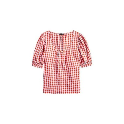 J.Crew Greta Top in Washed Gingham レディース シャツ トップス Red/Blue