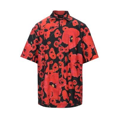 LES HOMMES シャツ レッド 44 コットン 100% シャツ