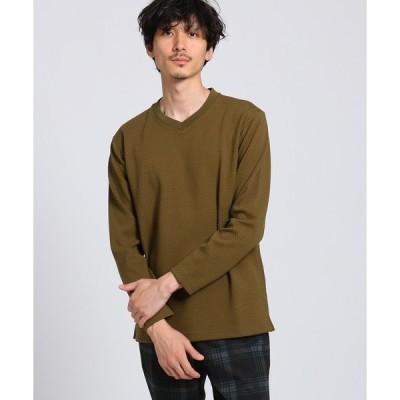 tシャツ Tシャツ ブリスター Vネックロングスリーブプルオーバー