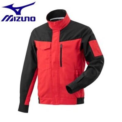 ◆◆【返品・交換不可】 <ミズノ> MIZUNO ワークジャケット[メンズ] F2JE9183 (96:ブラック×チャイニーズレッド) ワーキング用品