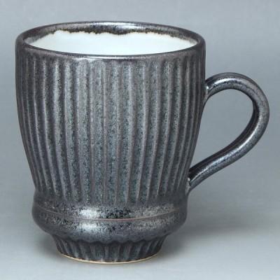 京焼・清水焼 陶器 マグカップ 黒釉ソギ 紙箱入 | 誕生日 母の日 父の日 敬老の日 退職祝 結婚祝 内祝 出産祝 ギフト 歳暮 中元 プレゼント |