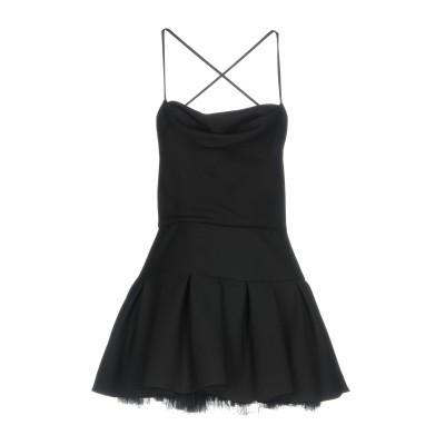 ヴァレンティノ VALENTINO ミニワンピース&ドレス ブラック 46 65% バージンウール 35% シルク ミニワンピース&ドレス