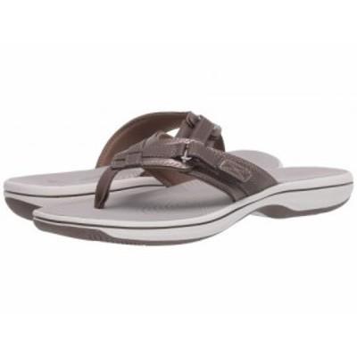 Clarks クラークス レディース 女性用 シューズ 靴 サンダル Breeze Sea Pewter Synthetic【送料無料】