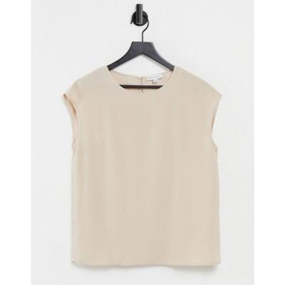 ウエアハウス レディース シャツ トップス Warehouse satin tipped T-shirt in mink
