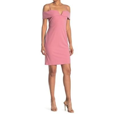 ベベ レディース ワンピース トップス Cold Shoulder Mini Dress BLUSH