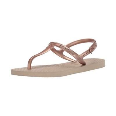 Havaianas Women's Twist Flip-Flop, Sand Grey, 9-10[平行輸入品]