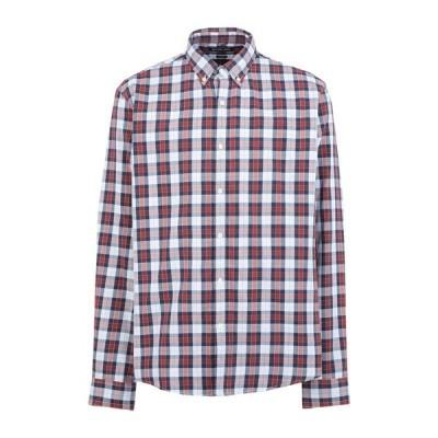 MICHAEL KORS MENS チェック柄シャツ  メンズファッション  トップス  シャツ、カジュアルシャツ  長袖 ダークブルー