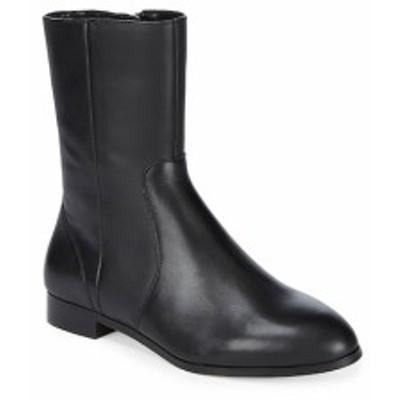 サックスフィフスアベニュー レディース シューズ ブーツ Paneled Almond Toe Leather Ankle Boots