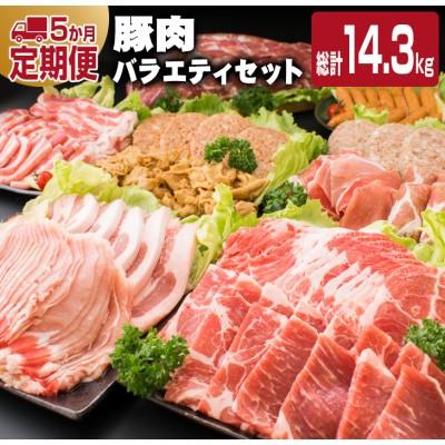 ≪5か月定期便≫お楽しみ★豚肉バラエティセット(総計14.3kg)