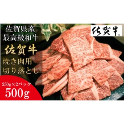 DY051_【数量限定】佐賀牛 焼肉用切り落とし 500g 黒毛和牛 和牛 牛肉 肉