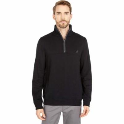 ノーティカ Nautica メンズ ニット・セーター トップス 1/4 Zip Knit Sweater True Black