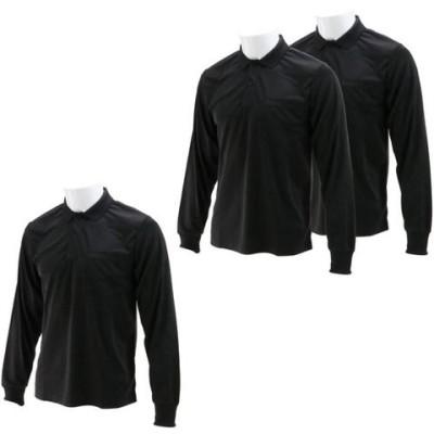 SK11 長袖ポロシャツ ブラック Lサイズ  L-BLK-3P (3枚入)